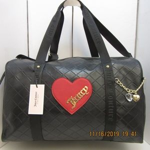 Juicy couture duffle cross my heart travel bag
